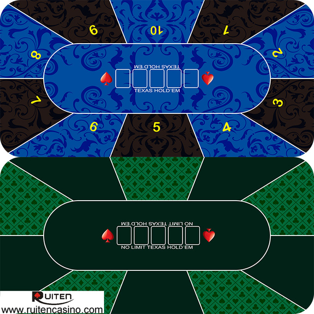 36*72inch 10 Player Texas Holdu0027em Layout Poker Table Rubber Foam Mat With