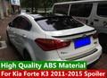 Для Kia Forte K3 2010-2015 спойлер высокого качества ABS Материал задний багажник автомобиля крыло хвост праймер цвет для K3 спойлер