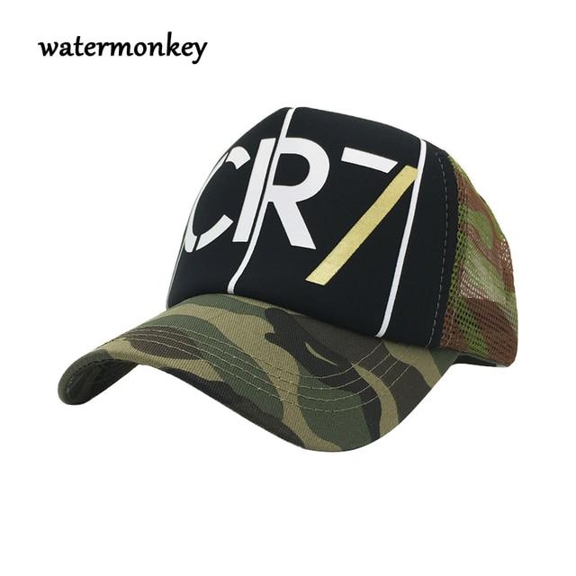 e7d6589550bf7 New summer cr7 cap men mesh baseball cap for men women mesh camo Snapback  Hats Adjustable Gorras Hip Hop Casual Baseball Caps
