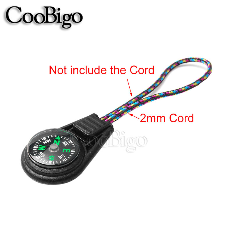 1 stücke Multi Farbe Reißverschluss Kompass Endet Kabel 2mm Paracord ...