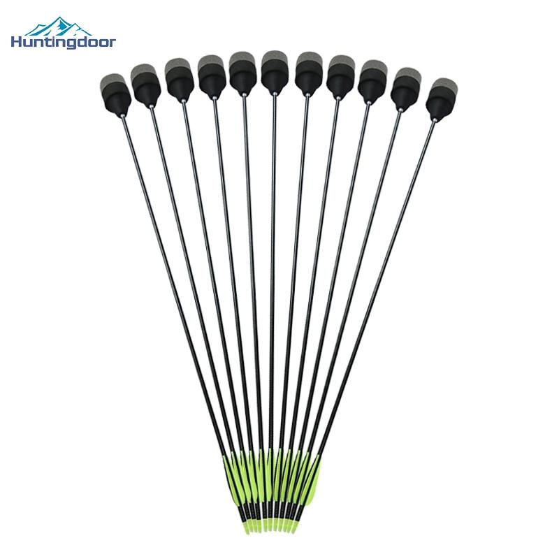 24pcs Fiberglass Arrows with Sponge Foam Arrowheads Hunting Target Game Practice Broadheads Tips for Archery Shooting