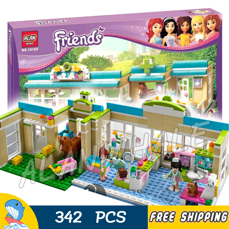 342pcs Friends Series Heartlake City Vet Mia Sophie 10169 Model House Building Bricks Blocks Children Toys Compatible With lego 2017 hot sale girls city dream house building brick blocks sets gift toys for children compatible with lepine friends