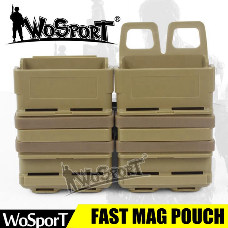 High Quality Fast Mag Pouch Airsoft AR15 <font><b>M4</b></font> 5.56 Molle System Tactical Military Molle Clip <font><b>Magazine</b></font> Holder Pouch image
