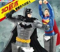 سوبر بطل المنتقم باتمان الكابتن أمريكا 3d اللبنات عمل الشكل لعبة لغز التعليمية للأطفال اللعب هدية
