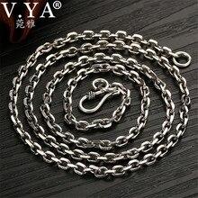 V. يا 2.8 مللي متر الصلبة 925 فضة سلسلة رجالية طويلة قلادة S925 التايلاندية الفضة والمجوهرات الذكور القلائد 55 سنتيمتر 60 سنتيمتر 65 سنتيمتر 70 سنتيمتر