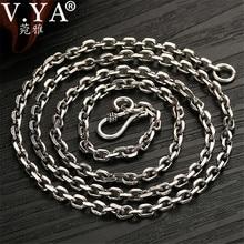 V. Ya 2.8 Mm Massief 925 Sterling Zilveren Heren Ketting Lange Ketting S925 Thai Zilveren Sieraden Mannelijke Kettingen 55 Cm 60cm 65 Cm 70 Cm
