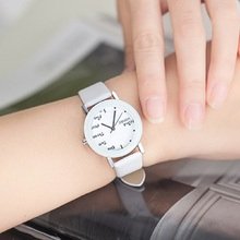 Fashion Quartz Wrist Watch with Colorful Faux Leather Band for Student Lovers Girl's Boy's