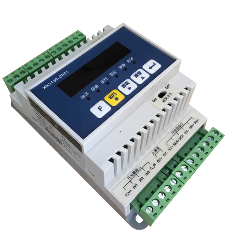XK3190-C801 Instrument Weight Transmitter Electronic Scale 485 Communication Guide Rail Weighing Controller