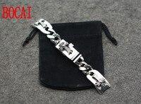 S925 plata cruz punky de la personalidad dominante andanada espada y plata retro párrafo cadena de reloj Pulsera