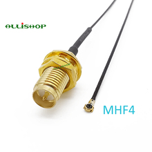лучшая цена MHF4 IPEX U.FL IPX MHFIV to RP-SMA Female Pigtail for Mini PCI 0.81mm For 7260NGW 8260NGW M2 Card Intel WIFI Wireless Board