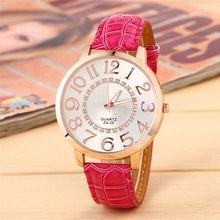 Big Face Dial Women Wristwatch