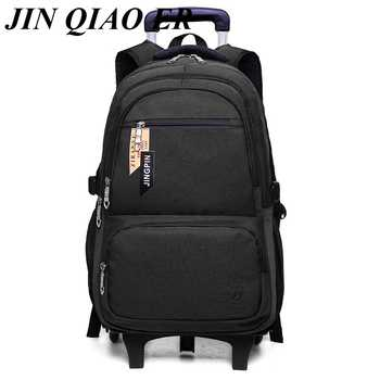 Children Detachable Trolley Backpack Boys Wheeled School Bag Casual Travel luggage Waterproof Climb the stairs trolley backpack - DISCOUNT ITEM  40% OFF All Category