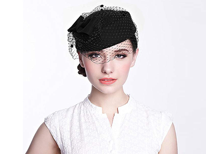 6d28efe13 Black1. New Brand and high quality. Elegant classical pillbox style and  design ...