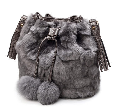 Fashion Design Faux Fur Bucket Drawstring Bag Women Fluff Leopard Handbag  Crossbody Bag Tassel Hairball Decoration Shoulder Bags-in Shoulder Bags  from ...