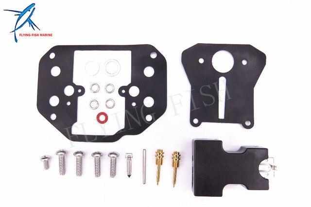 Outboard Motor Carburetor Repair Kit 6F6-W0093-00-00 for Yamaha 2-Stroke 40HP Old Model Outboard Motors G