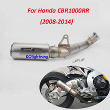 Slip on CBR1000RR Motorcycle Exhaust System Full Pipe Connect Modified Link Honda 2008-2011 2013-2016