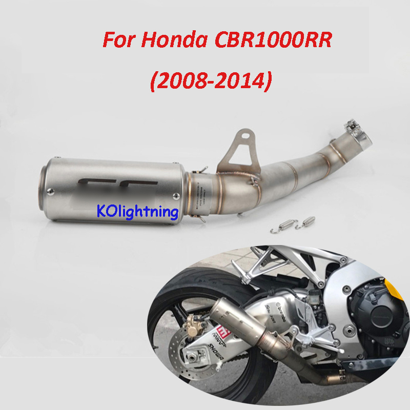 Slip on CBR1000RR Motorcycle Exhaust System Full Pipe Connect Pipe Modified Link Pipe Link Tube For Honda CBR1000RR 2008-15 игрушка welly honda cbr1000rr 12819p