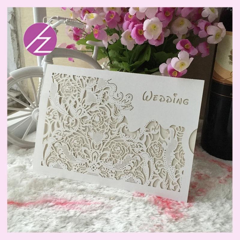 50pcs Wedding Invitation Card Wedding Cards Invitation 2018 Laser ...