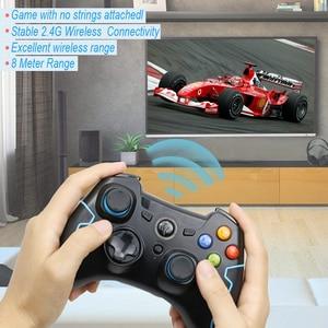 Image 2 - EasySMX ESM 9013 אלחוטי Gamepad משחק ג ויסטיק בקר תואם עם מחשב Windows PS3 טלוויזיה תיבת אנדרואיד Smartphone