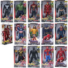 Marvel игрушки Мстители 4 фигурка супергероя Железный человек Халк Капитан Америка Тор человек паук Супермен модель игрушки
