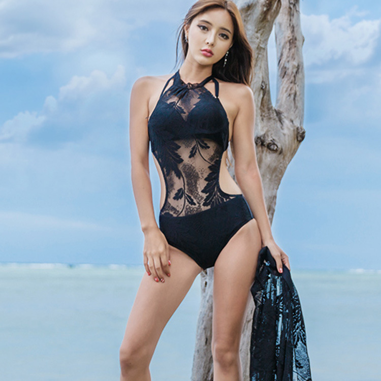 One Piece Swimsuit Plus Size Swimwear Bikini Triangle Korea Sports Woman Swimming Suit Sexy May New Underwire Bracket Polyester