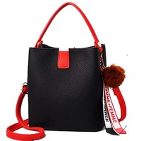 COSSLOO Women Messenger Bags brand Leather bucket Shoulder Bag Small Flap Hobos Crossbody Bags Handbag Purses Bolsas Hand Tote