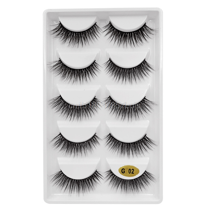 HTB1gvXQXOzxK1RkSnaVq6xn9VXaP New 3D 5 Pairs Mink Eyelashes extension make up natural Long false eyelashes fake eye Lashes mink Makeup wholesale Lashes