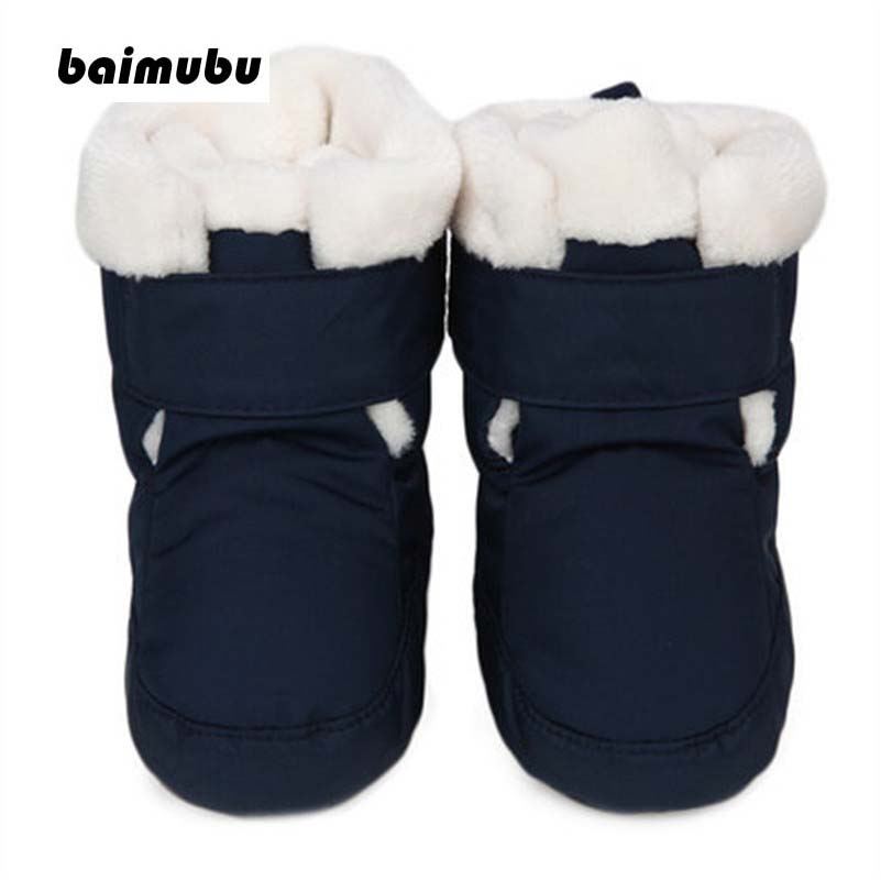 Winter Baby Shoes Infants Warm Boots Fur Wool First Walkers Booties Water Proof Baby Boy Girl Boots Fur Newborns Toddlers