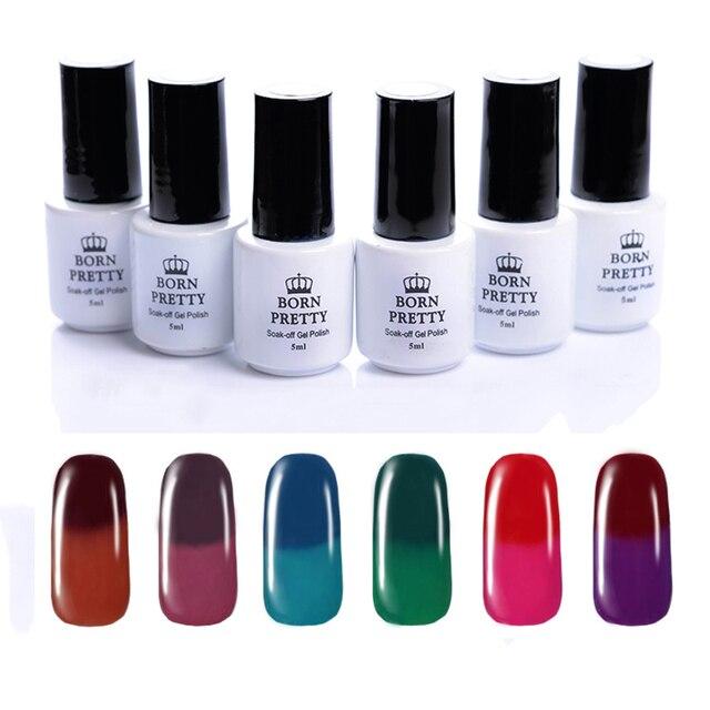 BORN PRETTY Temperature Color Changing Thermal Gel Polish Manicure 5Ml Soak Off Nail UV Gel Polish 13-18