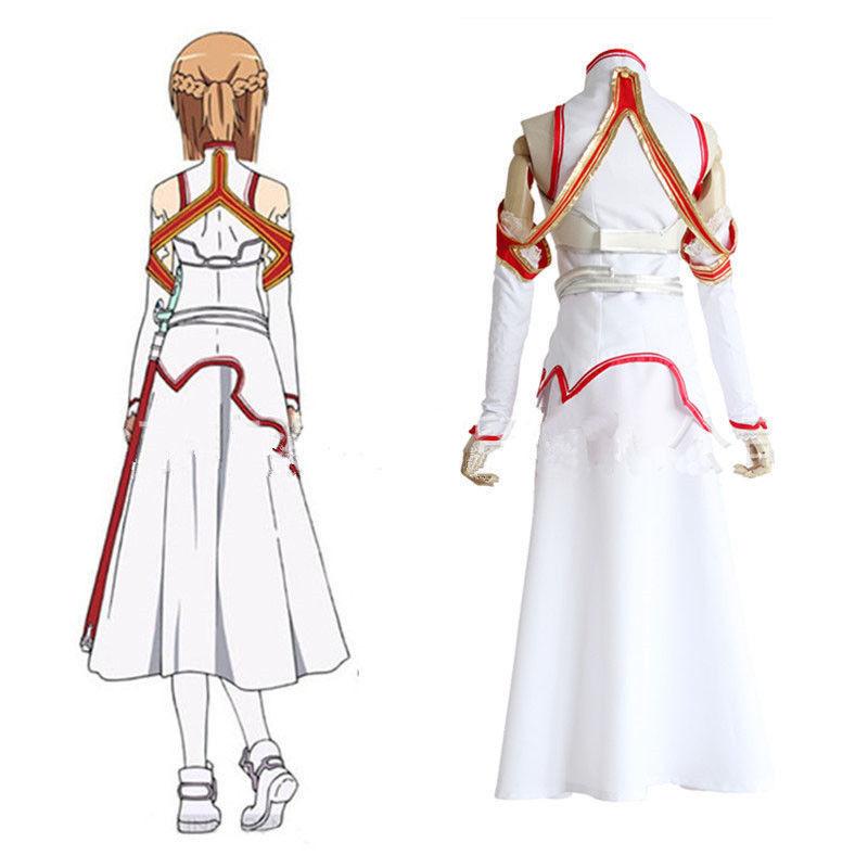 Anime-Sword-Art-Online-SAO-Asuna-Yuuki-Dress-Cosplay-Costume-Armor-Full-Set (1)