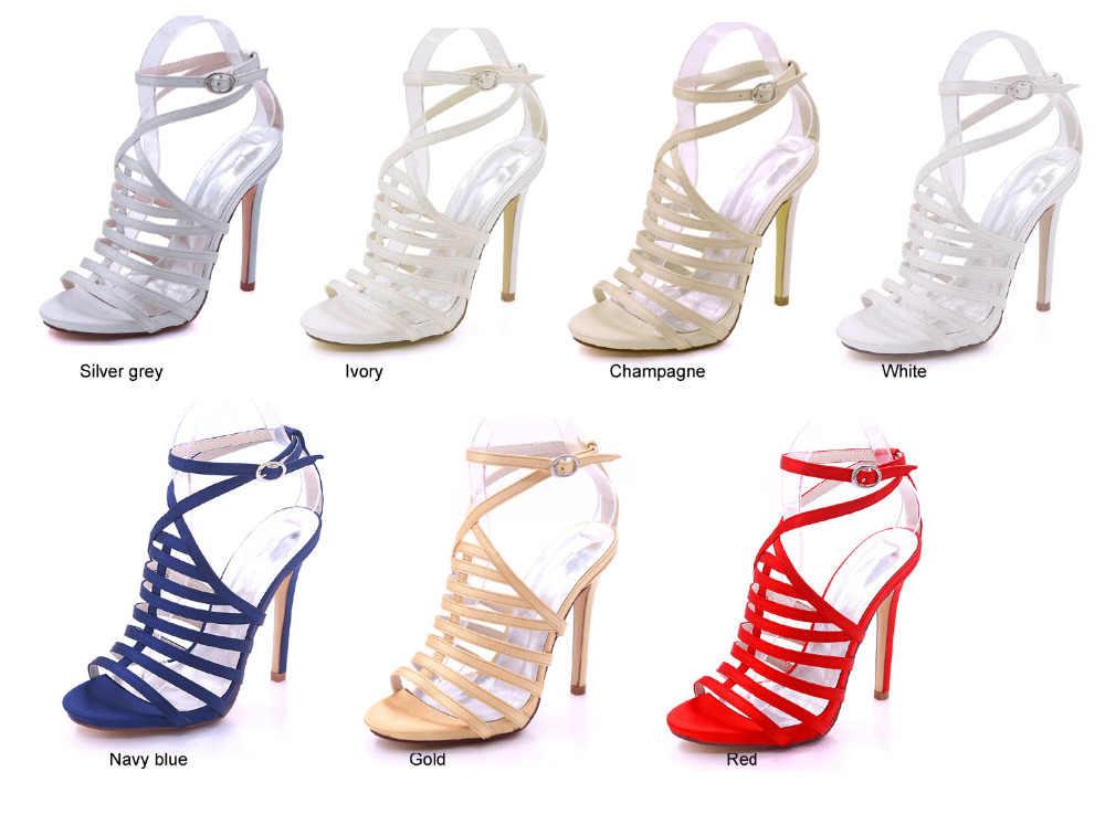 Creativesugar/Женская атласная обувь; летние модельные туфли; Вечерние туфли на высоком каблуке для выпускного вечера; модные туфли в римском стиле; цвет золотой, серебряный, серый, красный, цвет шампанского