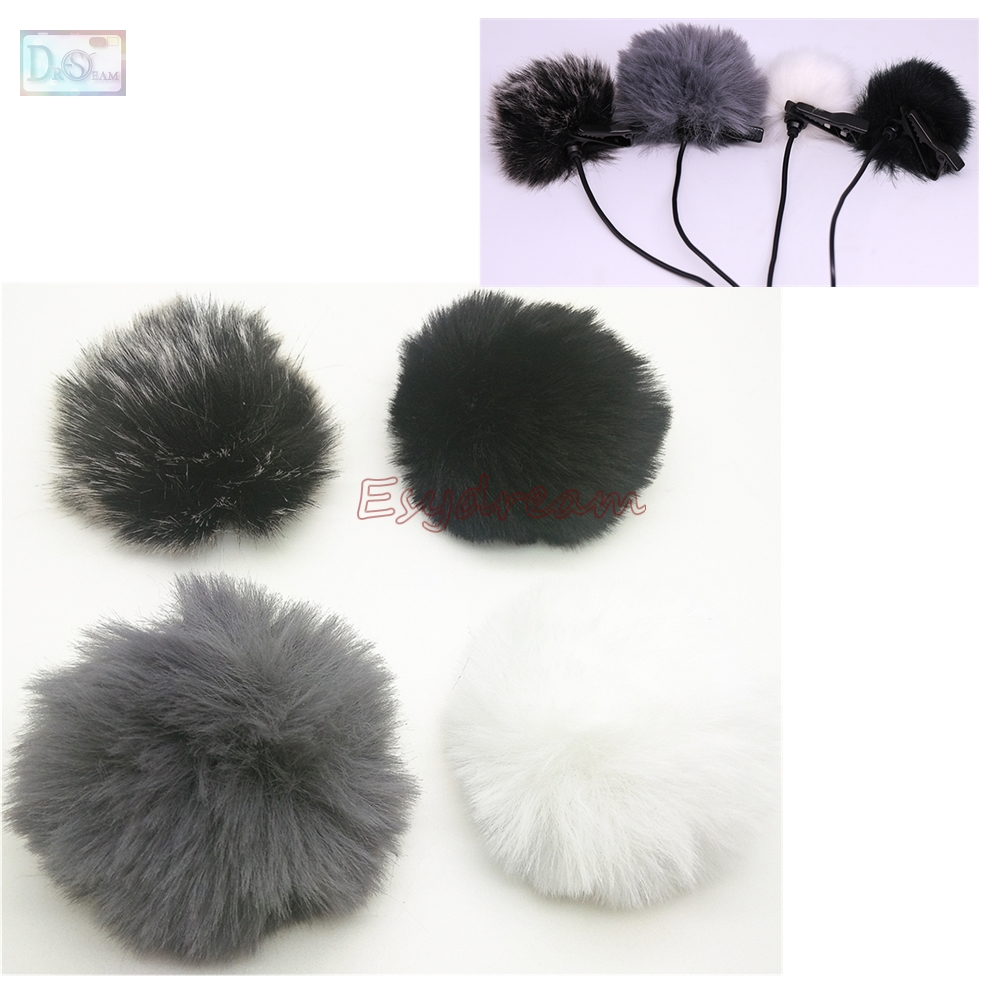 0.5cm 5mm Outdoor Furry Cover Windscreen Windshield For BOYA BY-GM10 BY-LM20 Deadcat Wind Shield Microphone