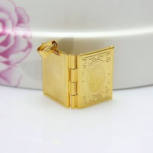 Image 4 - Fashion New Gold Color Islam Allah Muslim Necklace Quran Koran Book Loket Box Pendant With Chain Muhammad Religion Jewelry Gift