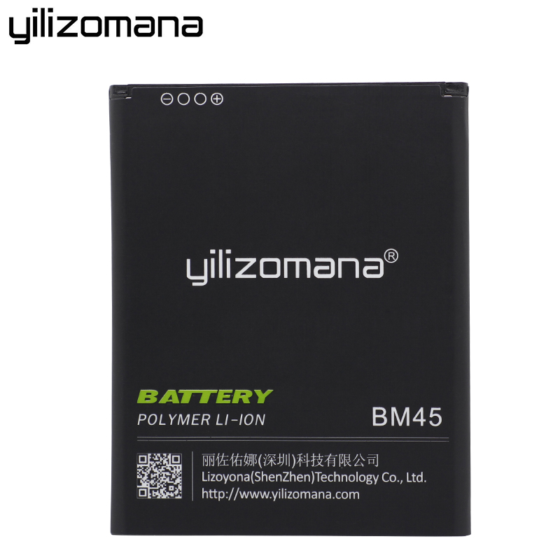 YILIZOMANA Phone Battery BM45 For Xiaomi Redmi Note 2 Battery Hongmi Red Rice Note2 3020mah Replacement Batteries