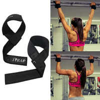 Weight Lifting Straps Gym Sports Fitness 1 Pair Wrist Belt Strap Hand Support Black Body Building Training Protection Barbell