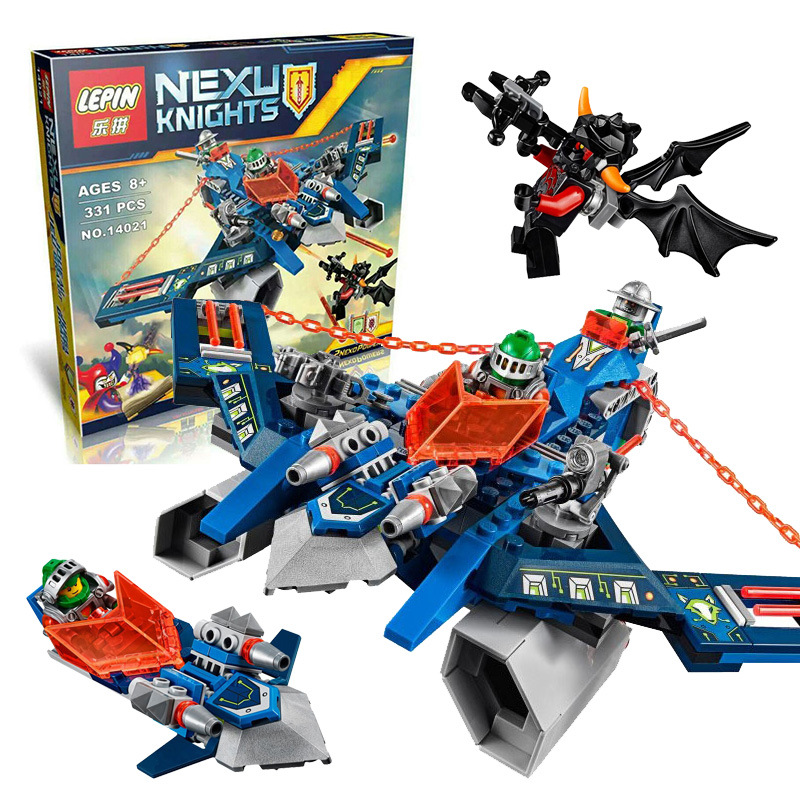 LEPIN 14021 Nexus knights Aaron Fox's Aero-Striker V2 Building Block Set Ash Attacker Minifigures Kids Toys 70320 Compatible