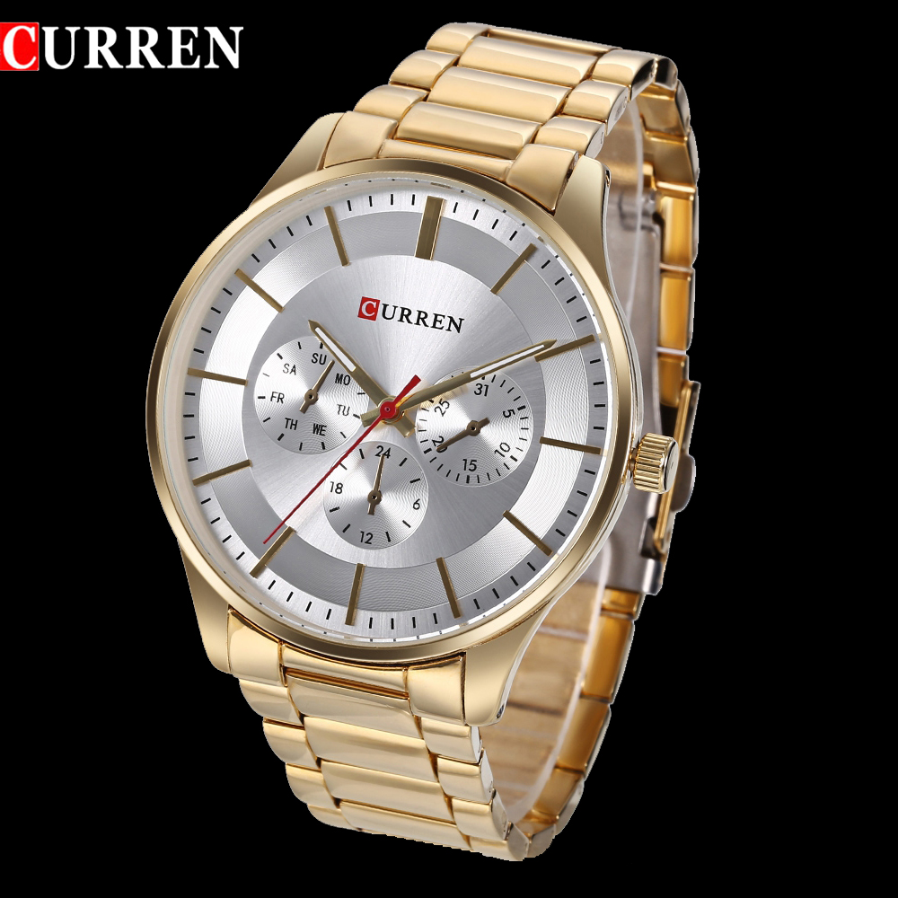 CURREN Brand New Men Fashion Quartz Watch Man Sport Watches Mens Casual Waterproof Wristwatch Male Clock Relogio Masculino men s watches curren fashion business quartz watch men sport full steel waterproof wristwatch male clock relogio masculino