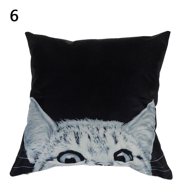 HTB1gvYVObrpK1RjSZTEq6AWAVXaS Vintage white and black Cat Dog Cotton cute Pillow Sofa Waist Throw Cushion Home Car Decor