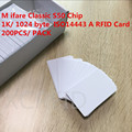 White RFID S50 Chip MF1 1K / 1024 Byte Writable Smart IC Card With ISO14443 Type A For Access Control System