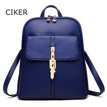 Ciker новые женские кожаные рюкзаки Bolsas Mochila Feminina Твердые coloirls школьные сумки для подростков Femme SAC DOS Bolsos Mujer