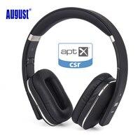 Agosto EP650 Bluetooth Wireless Cuffie con Microfono/Multipunto/NFC Sopra L'orecchio Bluetooth 4.1 Stereo Musica aptX Auricolare per TV, Telefono