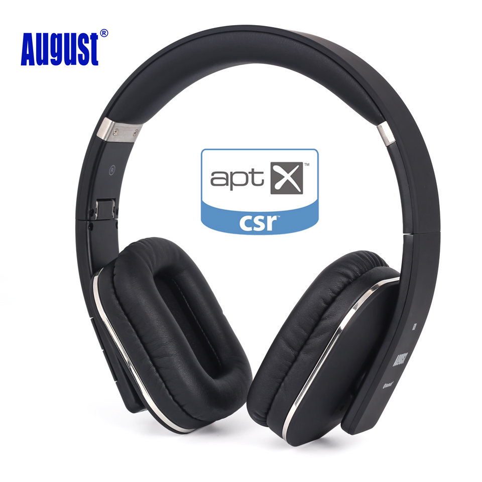 August EP650 беспроводные Bluetooth-наушники с функцией NFC, aptX, Multipoint, микрофоном и аудиовходом 3,5мм для смартфона, компьютера, ТВ