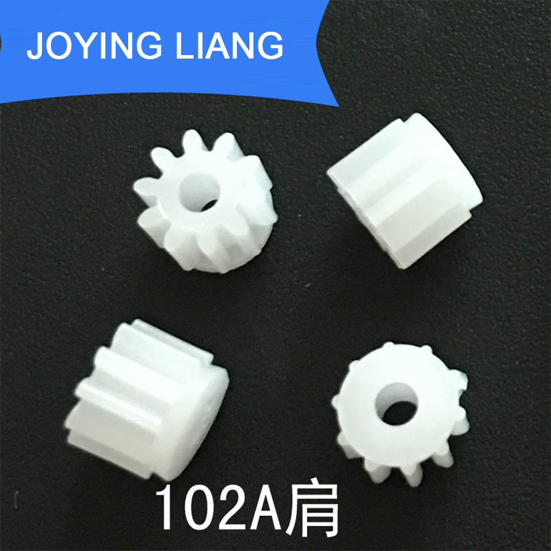 102A Shoulder Module 0.5 GEAR 10 Teeth 2mm Shaft Tight Pom Plastic Gear Toy Model Gear 10pcs/lot