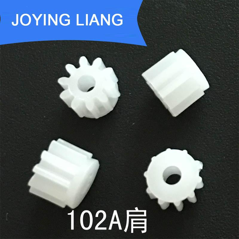 102A Shoulder Module 0.5 GEAR 10 Teeth 2mm Shaft Tight Pom Plastic Gear Toy Model Gear 10pcs/lot