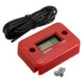 Waterproof Inductive Digital Hour Meter for Bike Motorcycle ATV Snowmobile Marine Boat Ski Dirt Gas Engine