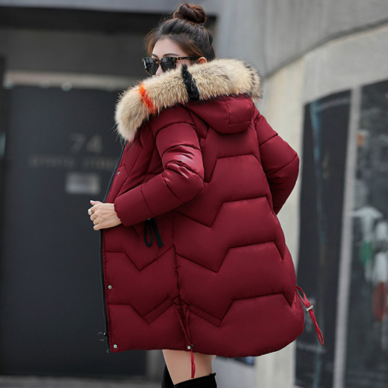 New 2018 Top Quality Women   Parkas   Very Warm Wool Hats Women Winter Coat Fake Fur Hooded Winter Jacket Women Thicken Down Jacket