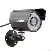 Boîtier métallique large vue HD 700TVL CMOS couleur Vision nocturne filtre ir-cut 24 LED étanche caméra infrarouge caméra analogique