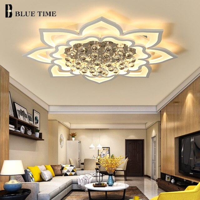 Идеальный Современный светодио дный хрустальные люстры для Гостиная Спальня акриловые люстра Домашнее освещение светильники AC110V 90-260 В