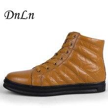 Мужская обувь модные зимние кожаные ботильоны натуральная кожа Для мужчин S ковбойские ботинки мужские мокасины Сапоги и ботинки для девочек 2017 D30