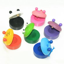 Baby brand new Castanet wooden music instrumental toys, Kids Child Orff early learning educational toys, free shipping